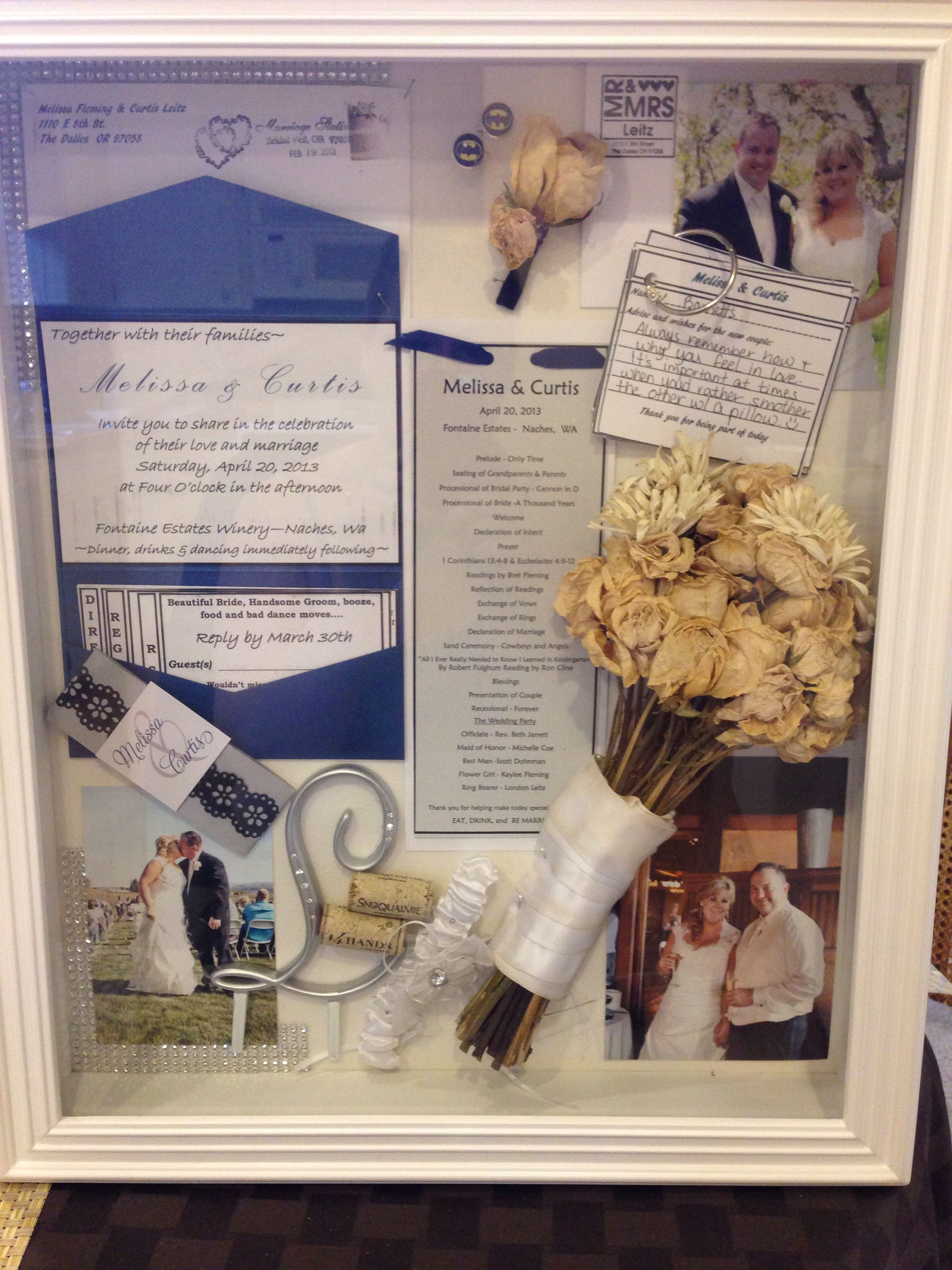Our Wedding Shadow Box Completed Projects Wedding Memory Box