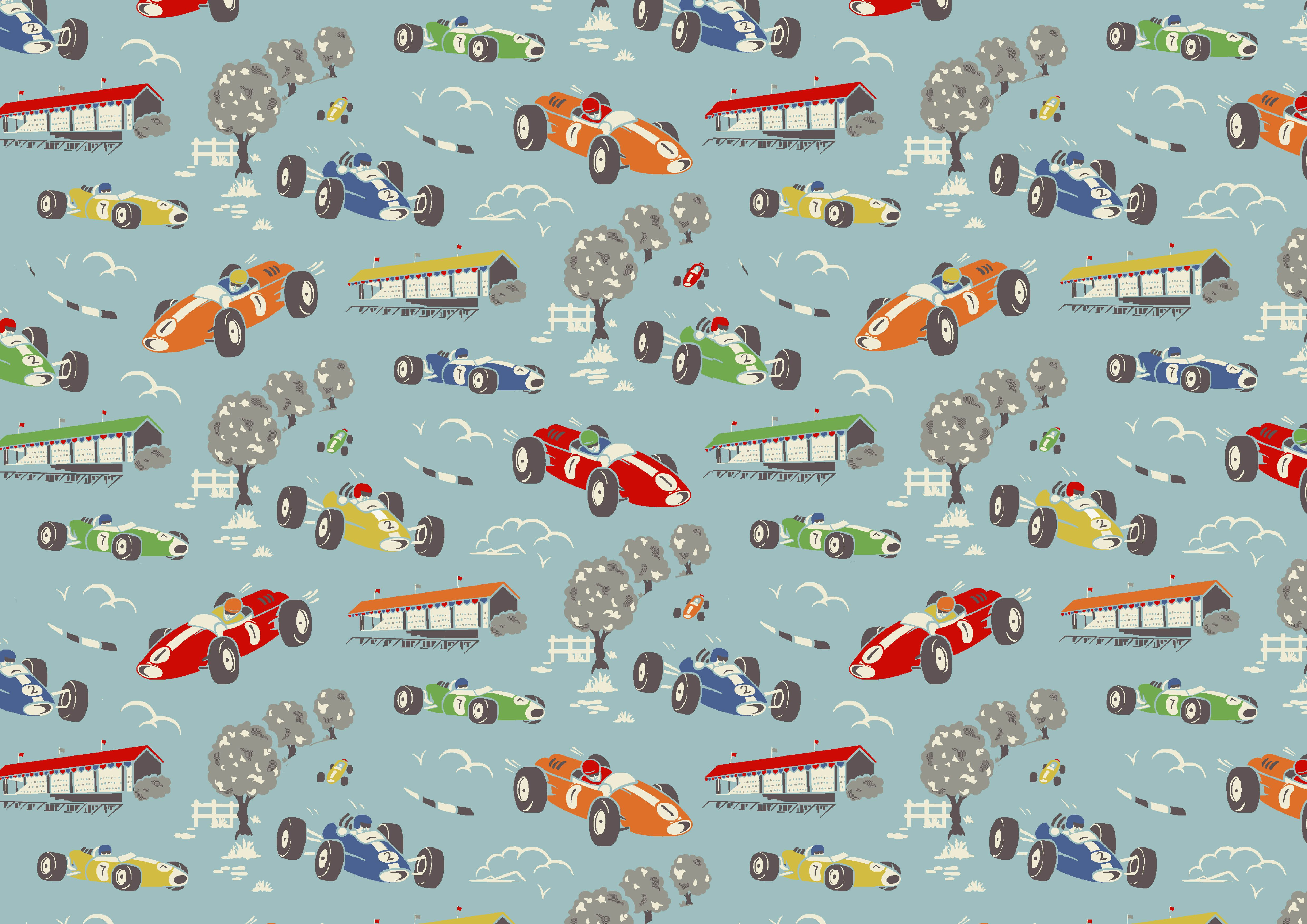 Cath Kidston Vintage Racing Car Wallpaper Racing Car Dating Back To Ss07 Our Original Racing Cars