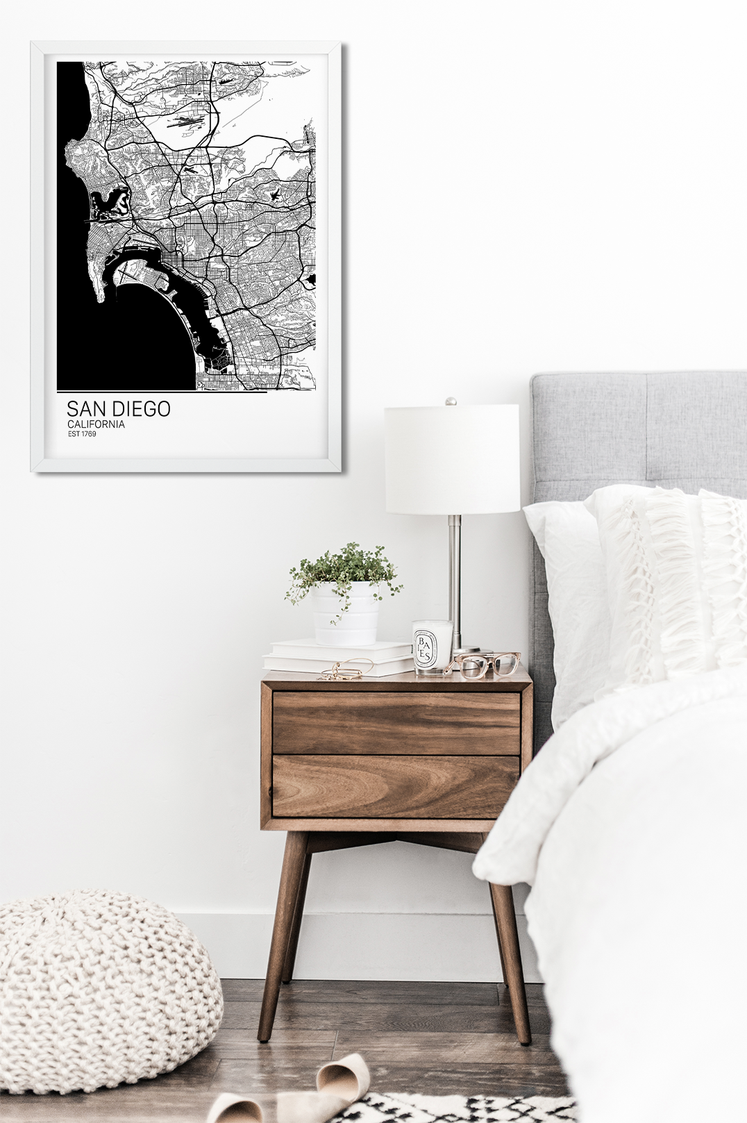 Scandinavian Furniture San Diego San Diego Map Art Print Map Of San Diego California