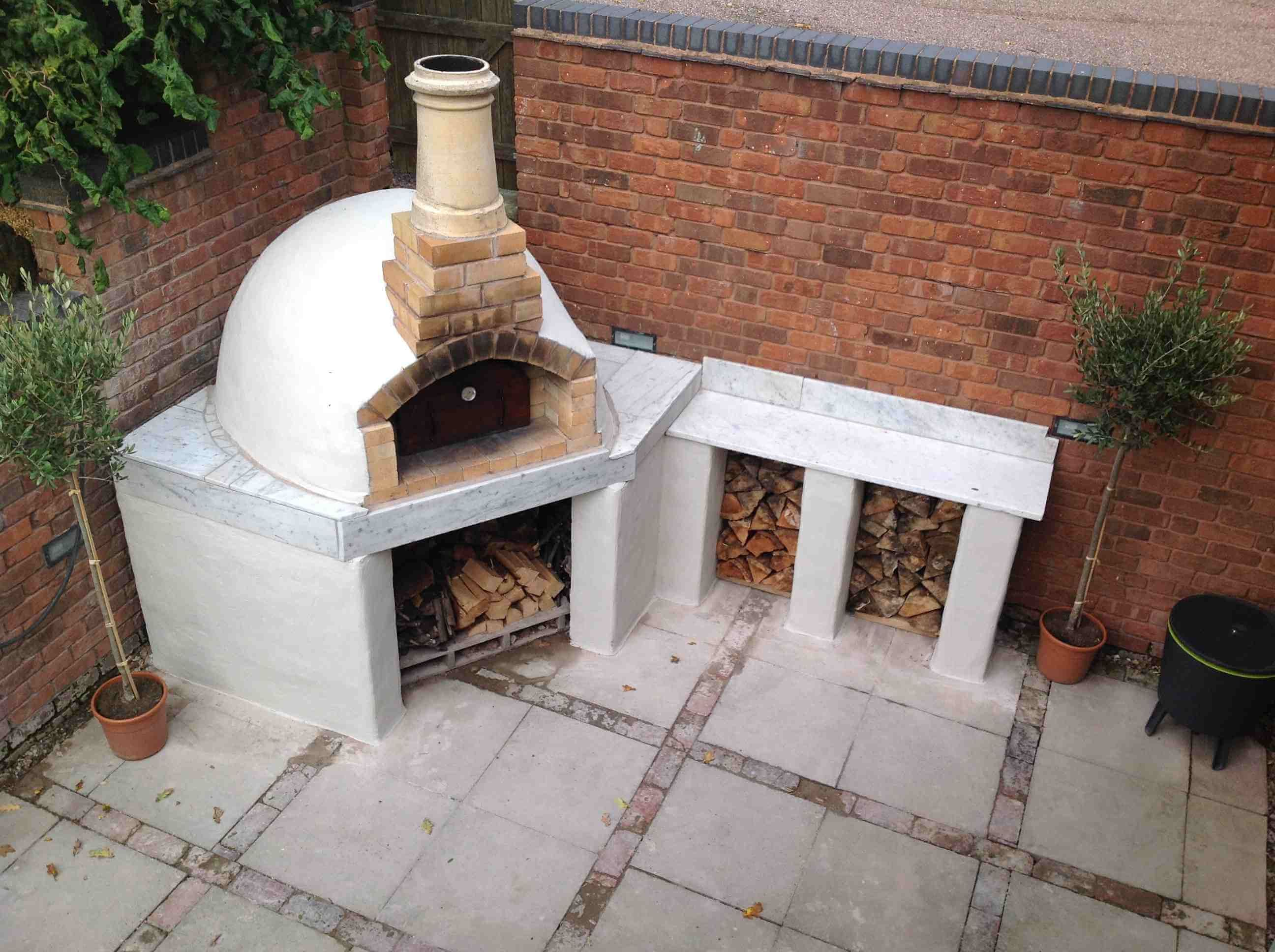 fireplace diy outdoor design oven and pizza ideas brick