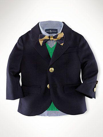 Wool Brass-Button Blazer - Outerwear   Jackets Infant Boy (9M–24M) -  RalphLauren.com 56adf14a579