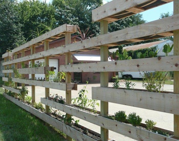 diy ideen garten gartenzaun aus paletten selber bauen - Paletten Ideen Garten