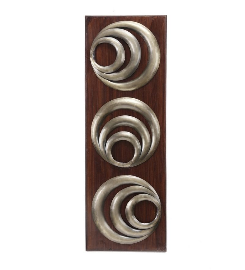 Goyal India Three Rings Wall Decor by Goyal India Online Metal