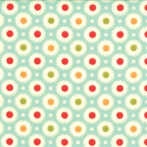 Light Blue Red Green Orange LAMINATE Fabric  by CreateByTheYard, $16.00