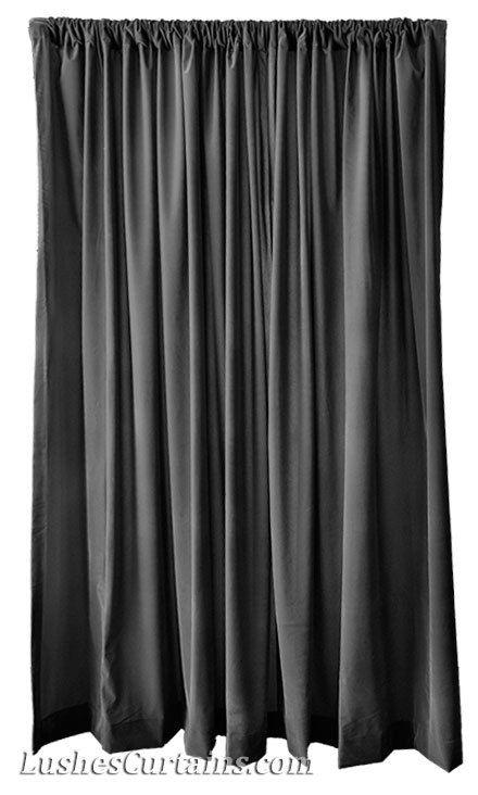 Black Velvet 72 Inch Curtain Long Panels Modern Ready Made Sizes