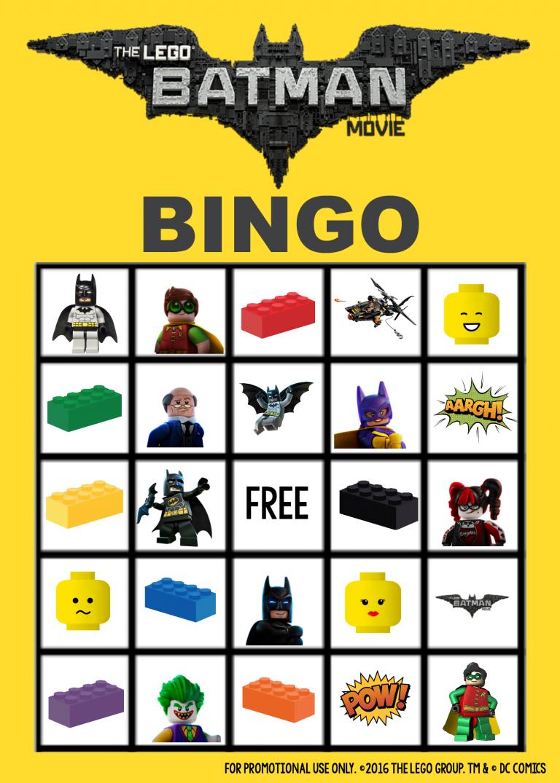 Lego Batman Bingo Game Lego Batman Batman Games For Kids Lego Party Games