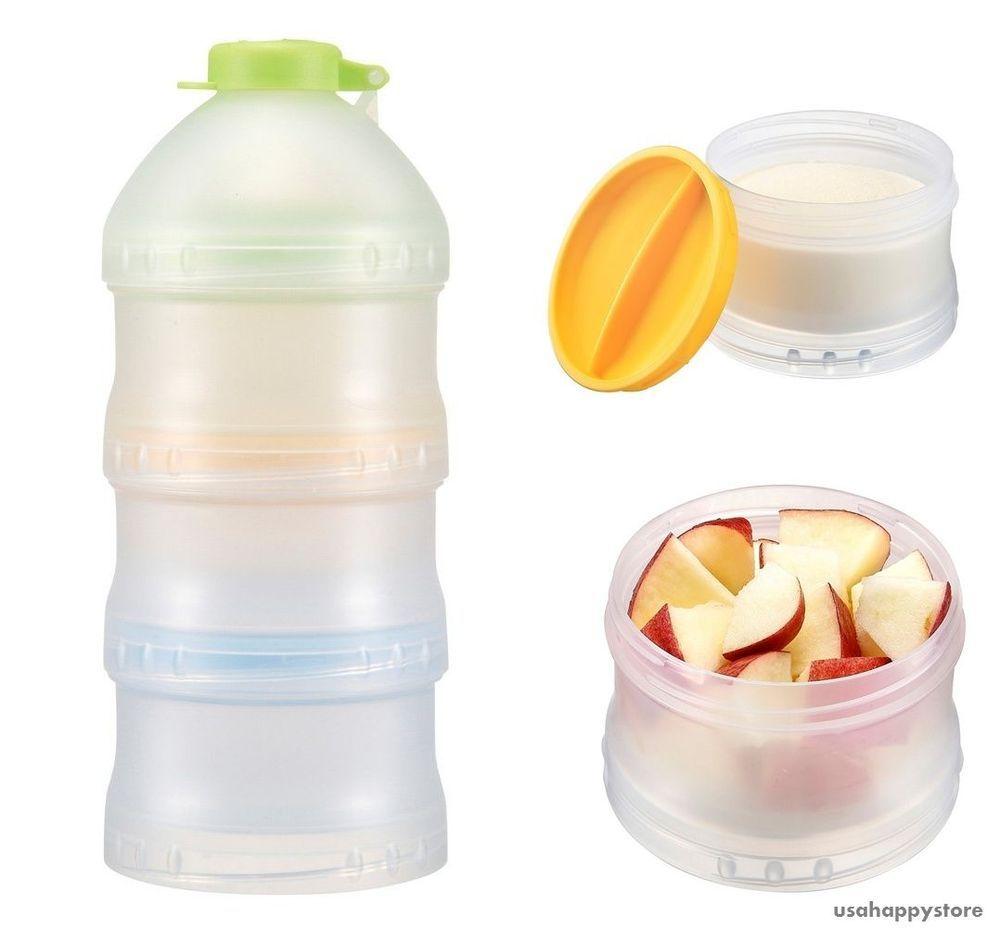 9c6cc1045116 Food Storage Snack Container Stackable Formula Dispenser Lid Kid ...