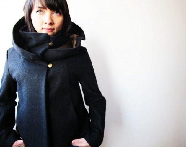Bien-aimé Veste à grande capuche par Tenlittlefingers - thread&needles  NW74