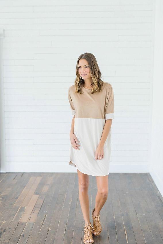 51086de11353 Free Reign Suede Camel Dress Bella Ella Online Boutique Store ...
