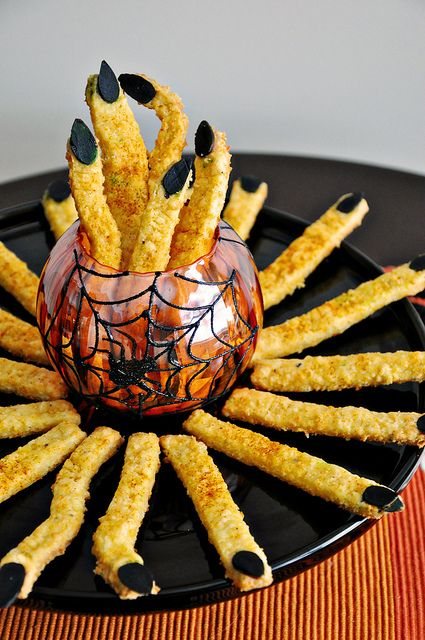 Cheddar Witches Fingers Spooky Cheese Straws Recipe