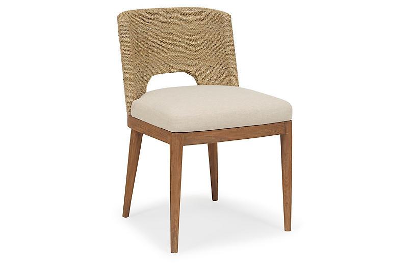 Brownstone Furniture Amalfi Side Chair Praline Ivory Crypton