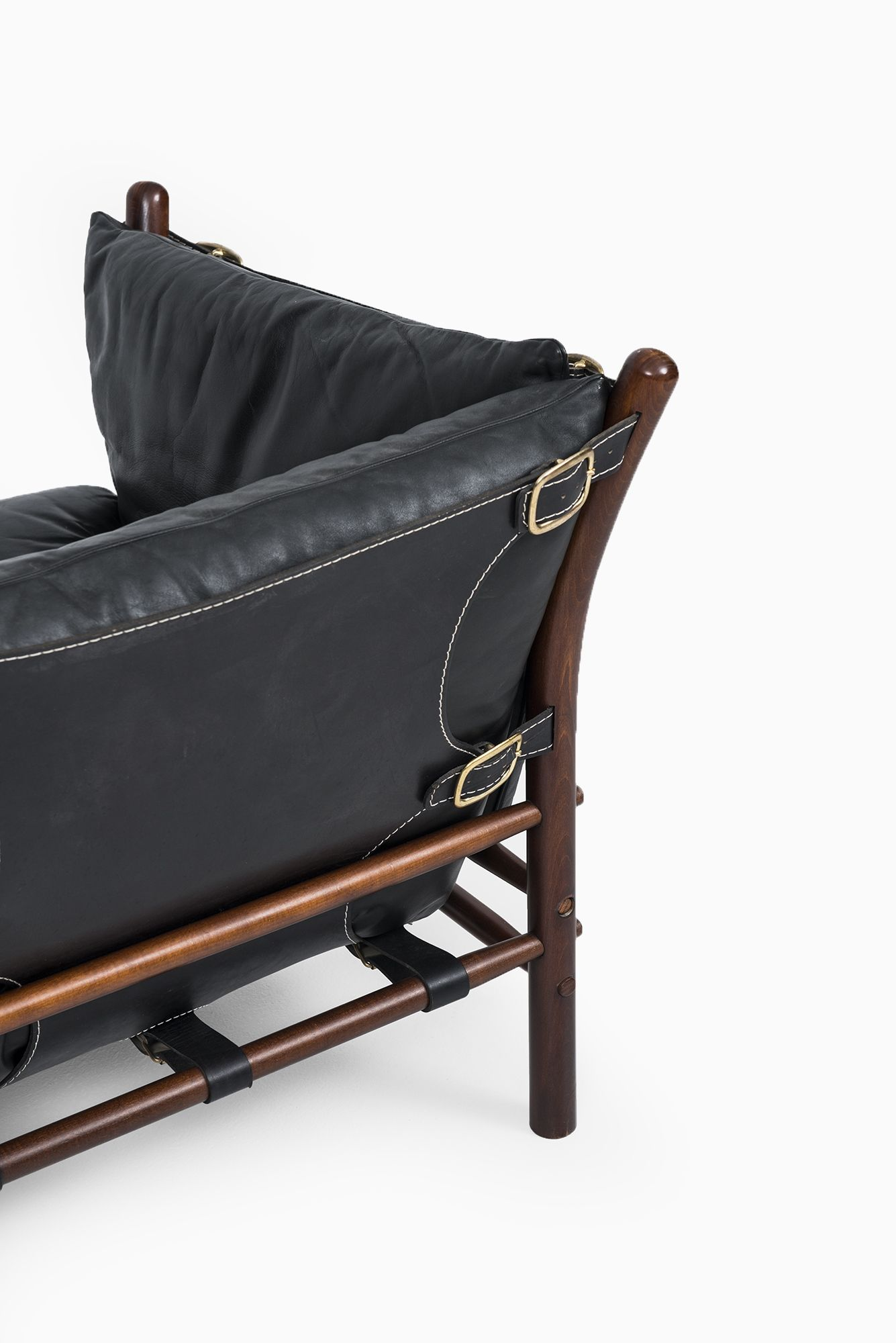 Arne Norell Ilona easy chairs in black leather at Studio Schalling