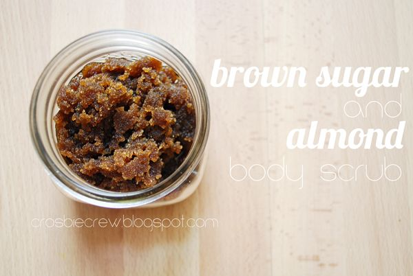 Brown Sugar and Almond Body Scrub {homemade}