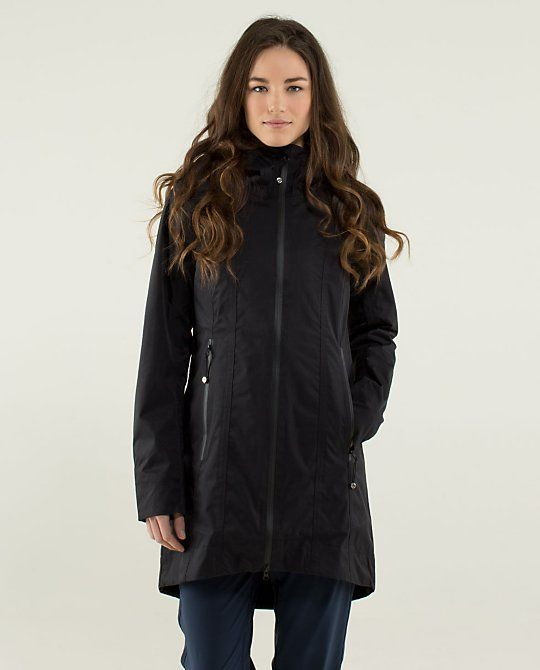 89be8cabf1 Lululemon Right As Rain Jacket in Black~Really want this!!! Would be ...