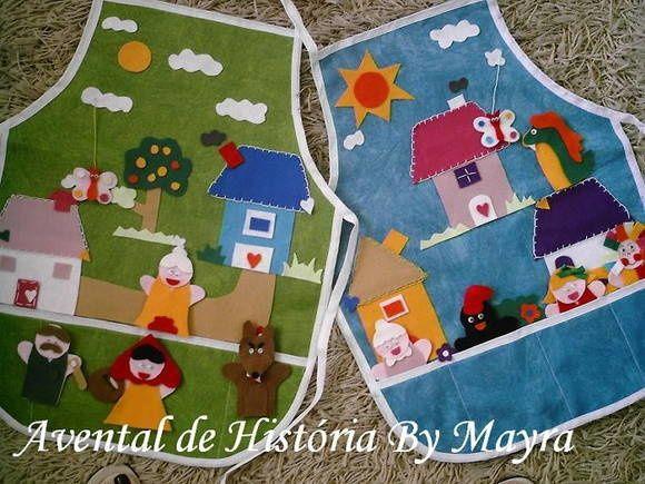 Avental Para Contar Historia Crianca Historias Para Criancas