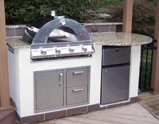Custom Grill Builders Pizza Oven Outdoor Kitchen 6 Wide Island Includes Beef Eater Premium Outdoor Kitchen Island Custom Grill Pizza Oven Outdoor Kitchen