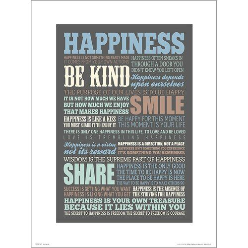 Photo of East Urban Home Poster Happiness Quotes | Wayfair.de