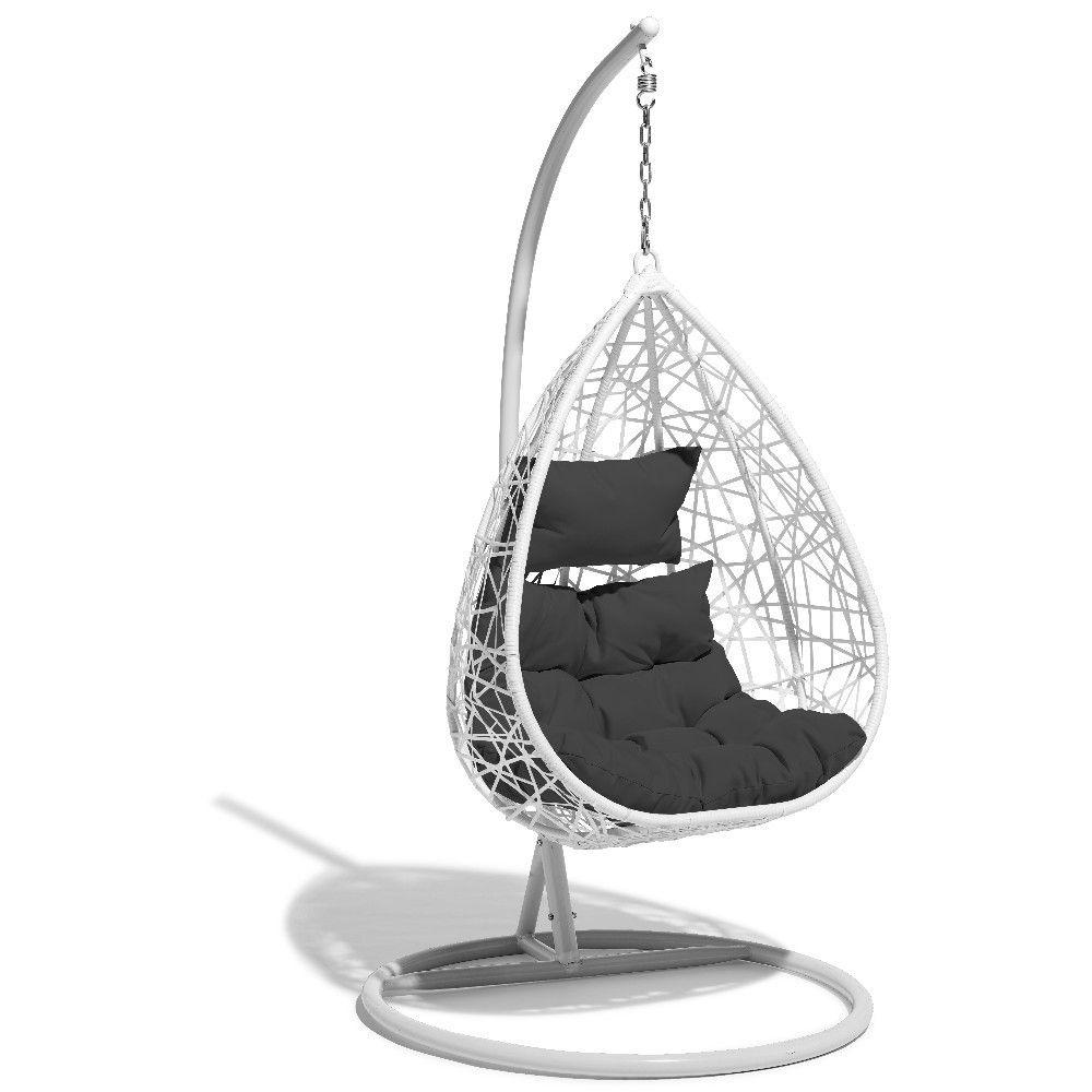fauteuil suspendu chill blanc et gris