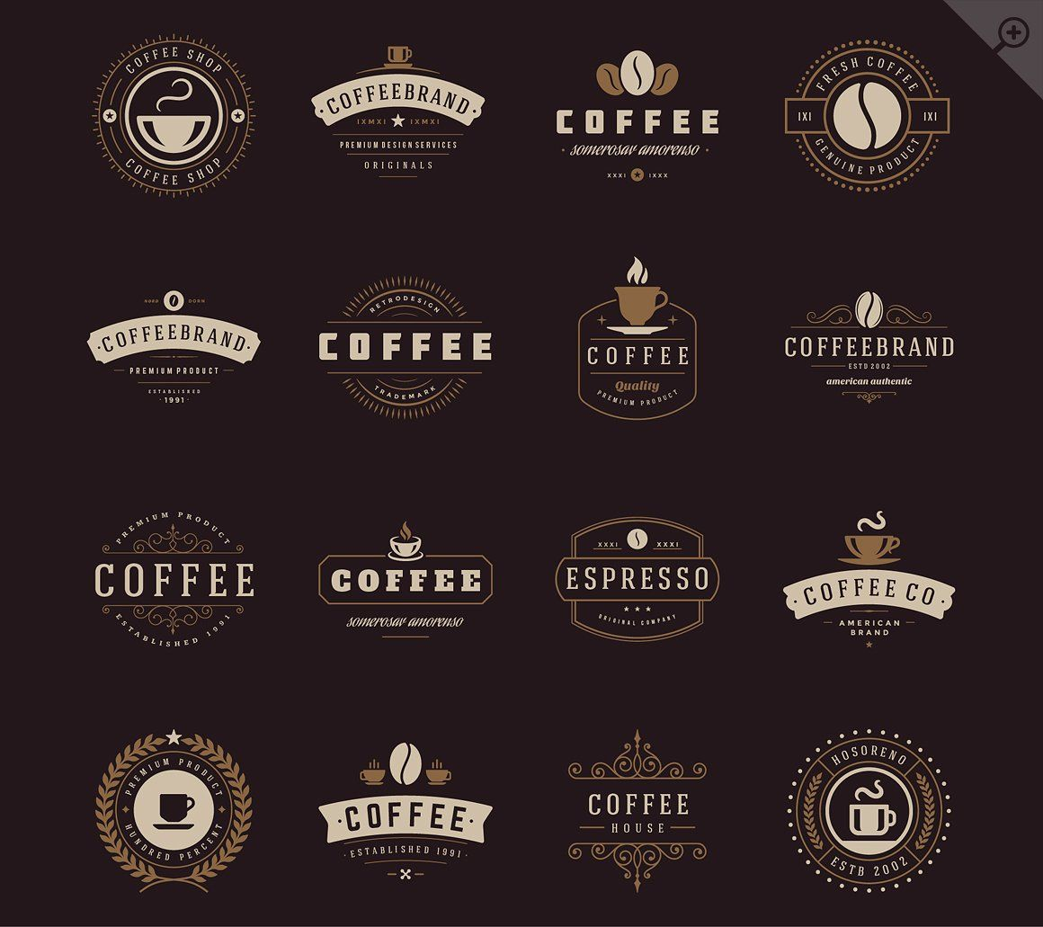16 coffee logotypes and badges coffee shop logo shop