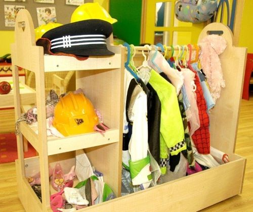 Classroom Dress Up Ideas ~ I would love a tidy dress up area like this in my