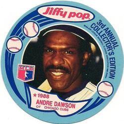 1988 Msa Jiffy Pop Discs 8 Andre Dawson Front 1988 Baseball Cards