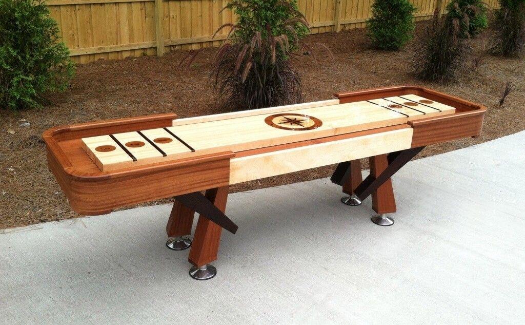Furniture Small Shuffleboard Table Design Magnificent