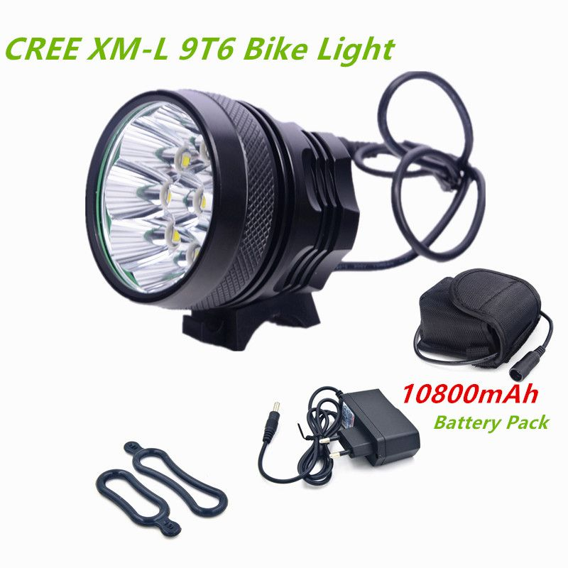 Bicycle Lights Bycicle Light 9 Led 12000lm Rechargeable 18650 Battery Cycling Light Bike Led Luces Bicicletas Bike Lamp In Bike Lights Bike Led Cycling Lights