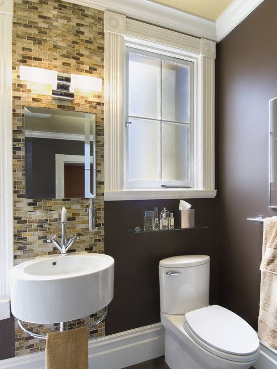 Wall color, tiles and sink Bathroom of Awesome Pinterest