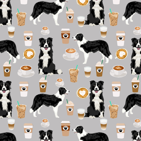 Border Collie DOGS pets Sewing cotton fabric Makower various lengths craft