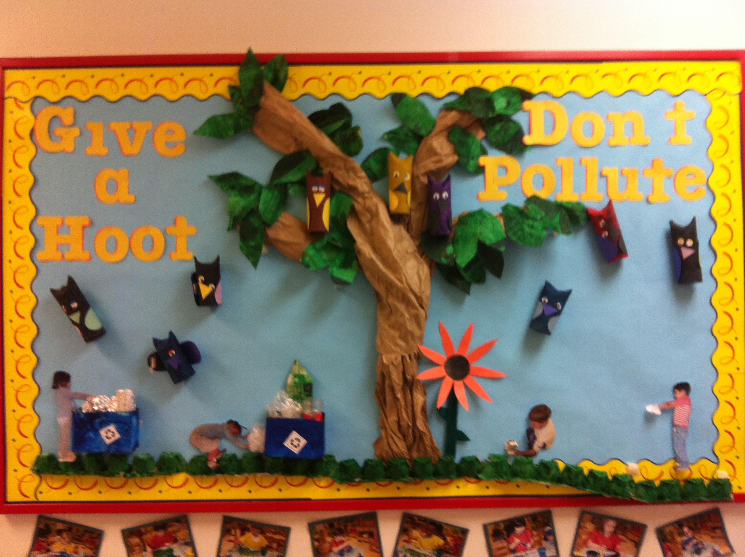 Go green vegetable bulletin board idea myclassroomideas com - Clever Title For Recycling Bulletin Board