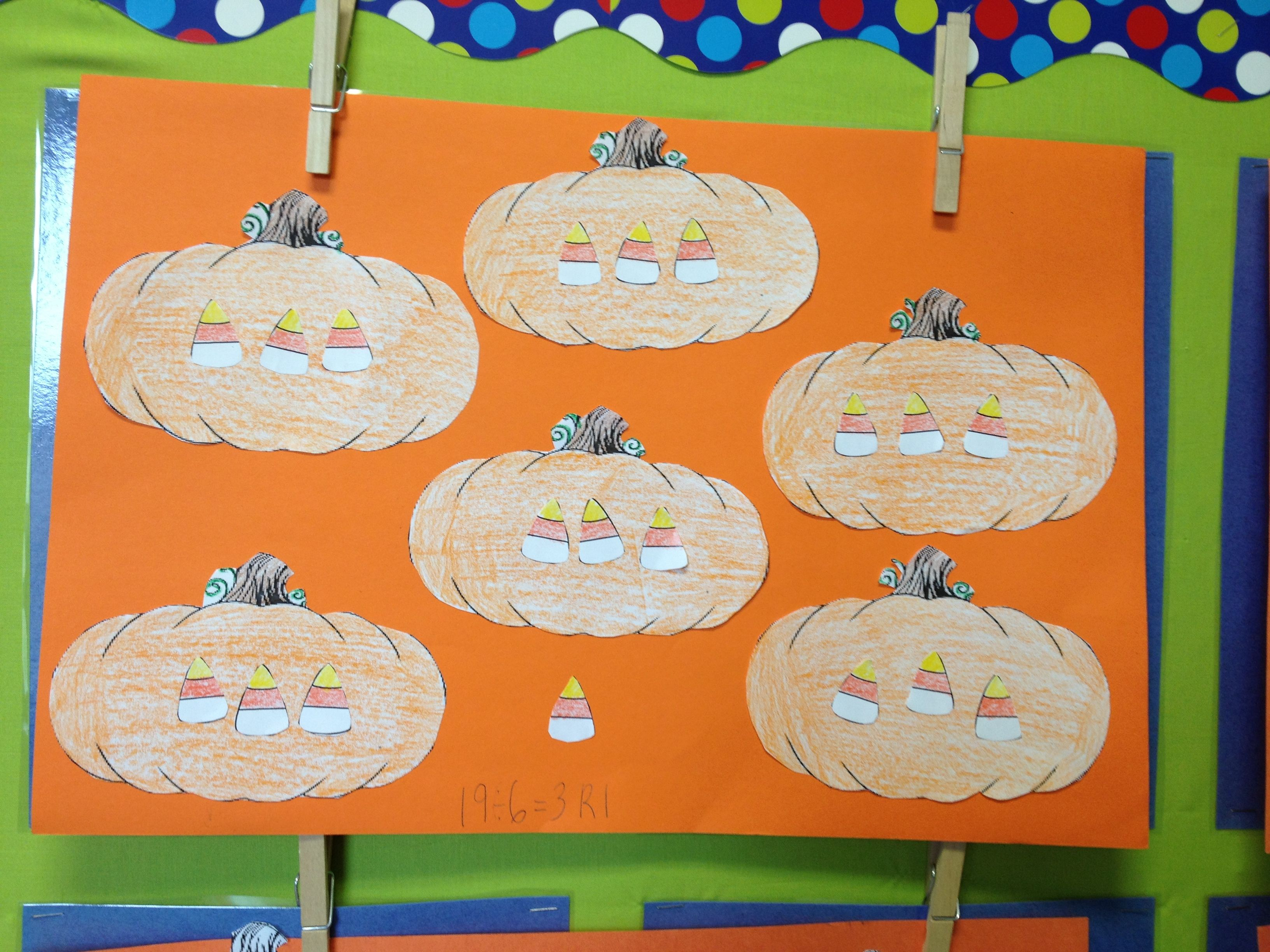 Division With A Remainder Halloween Activity With Images