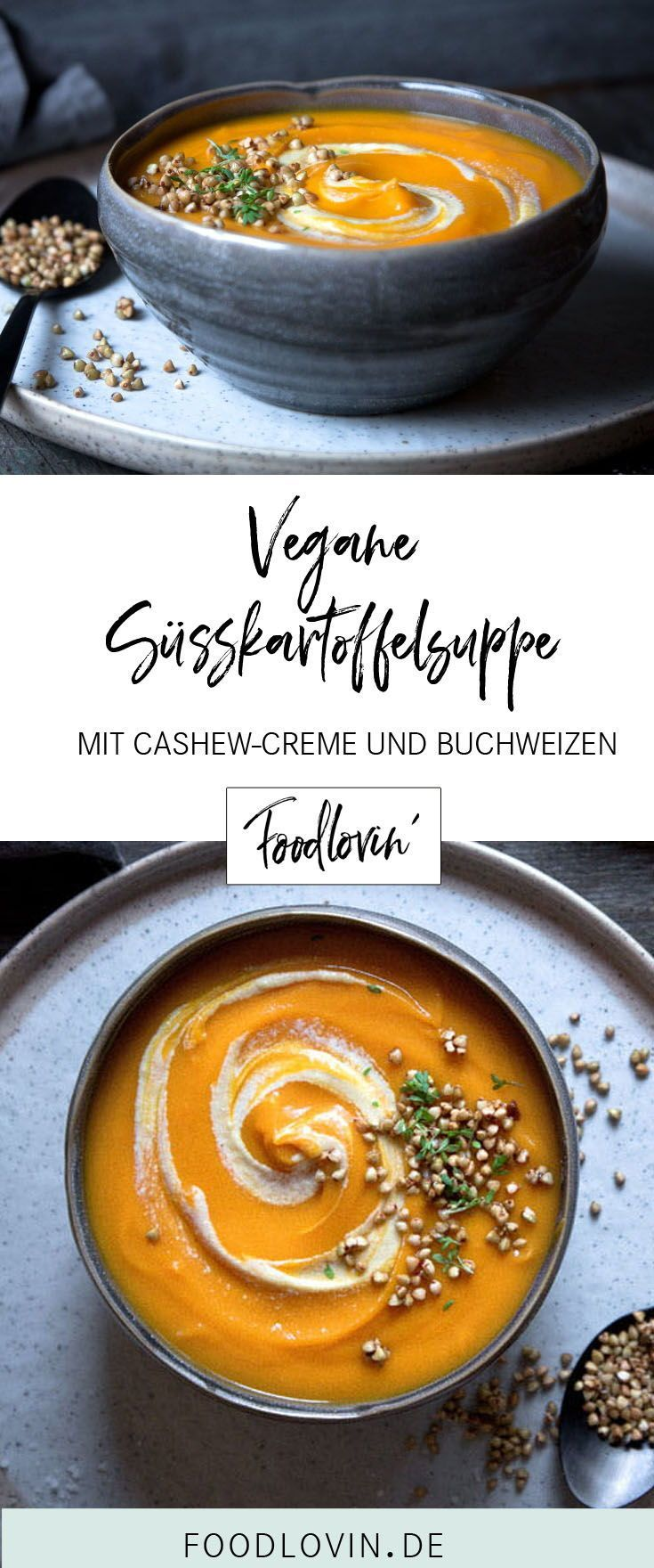 Vegane Süßkartoffelsuppe mit Kurkuma