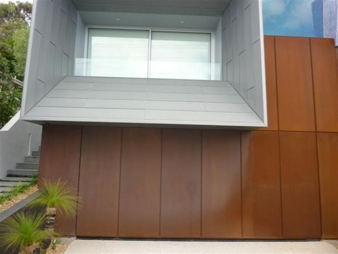 Corten Garage Door Flush Finish Garage Doors Doors House Design