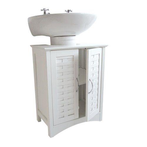 White Weave Effect Under Sink Bathroom Cabinet Roman At Home Bathroom Cabinets Bathroom Sink Cabinets