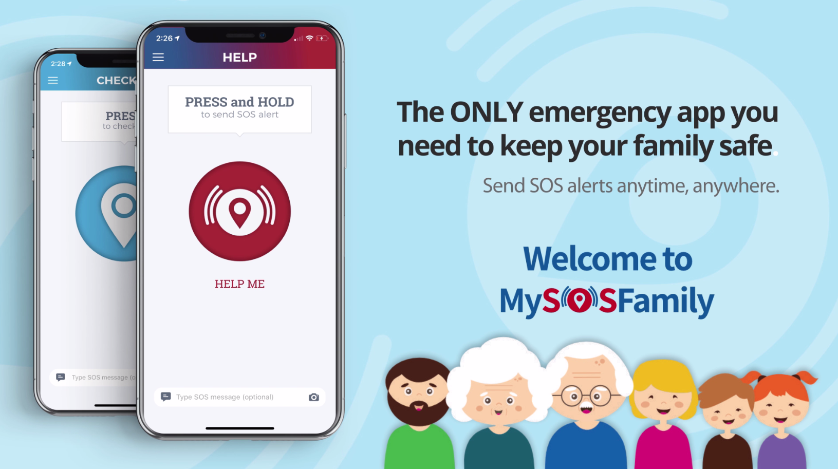Emergency App for your elderly family when you're away