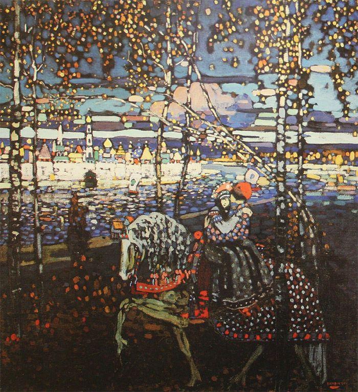 Kandinsky Couple à cheval, 1906 Art kandinsky