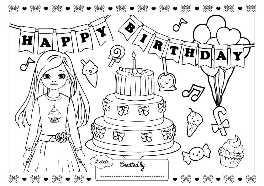 Birthday Girl Sophia Colouring Page Birthday Coloring Pages Coloring Pages Happy Birthday Coloring Pages