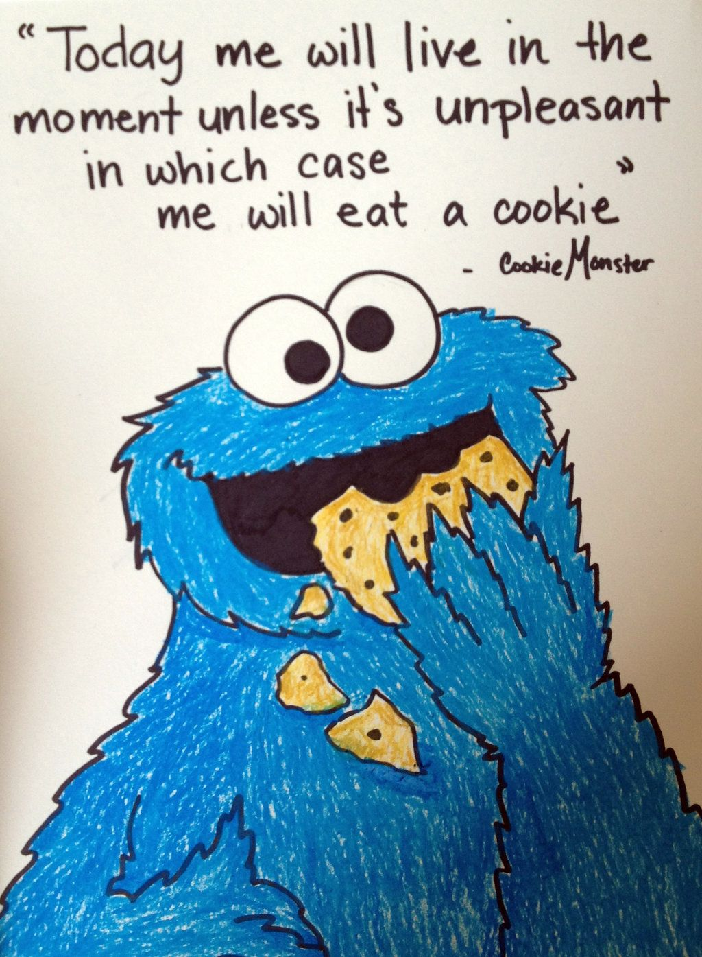 Cookie Monster Quote By Nadia354 On Deviantart Cookie Monster Quotes Monster Quotes Monster Cookies