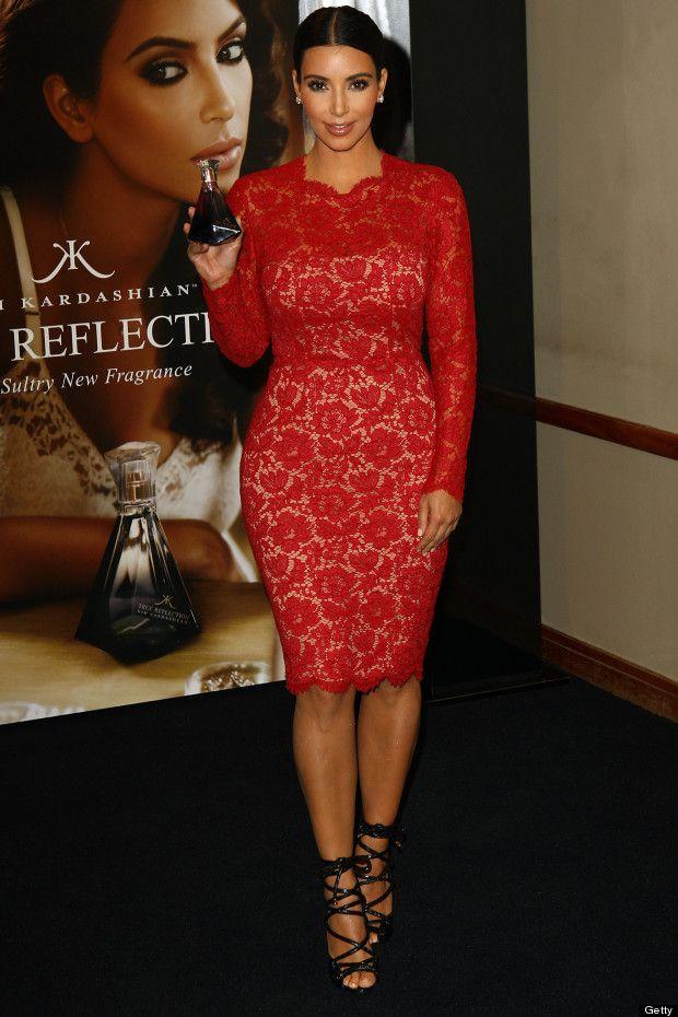 Kim Kardashian Style | Bridesmaid | Pinterest | Red lace, Valentino ...