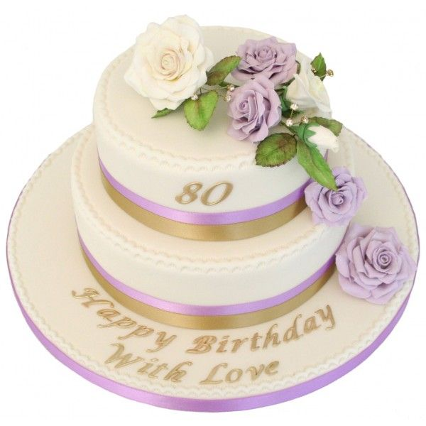 Lilac rose 80th birthday cake family pinterest 80th for Gardening 80th birthday cake
