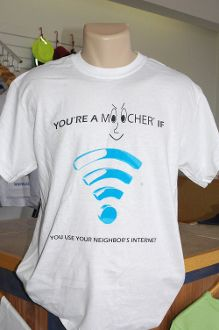 How is the neighbor's Internet?