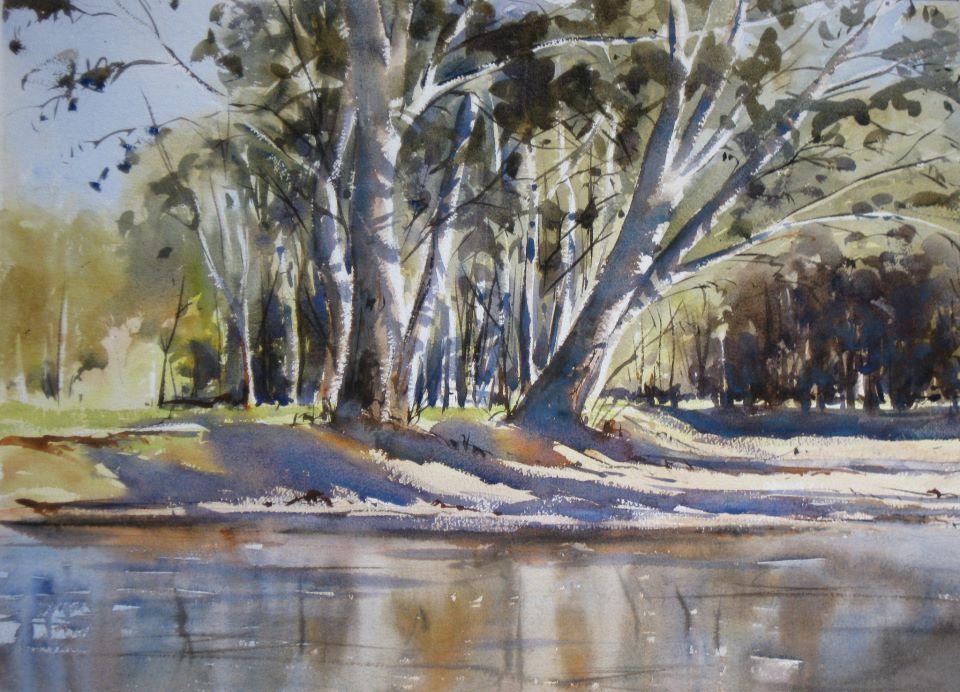 Gordon Dickson Australia Master Watercolor Watercolor Landscape