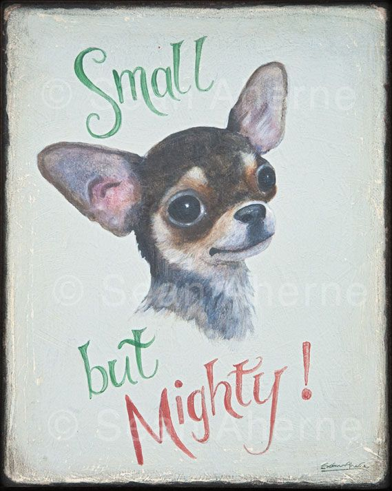 Black and Tan Chihuahua Dog Handpainted Wooden Sign | Animal Art ...