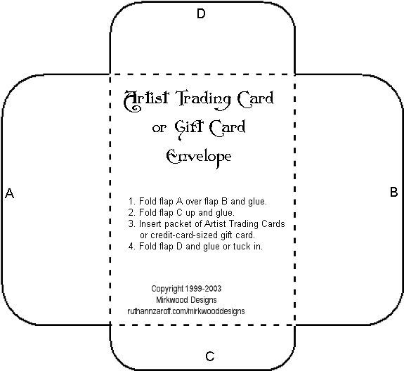 Gift Card Envelope Template Cut  Cards Projects Pinterest