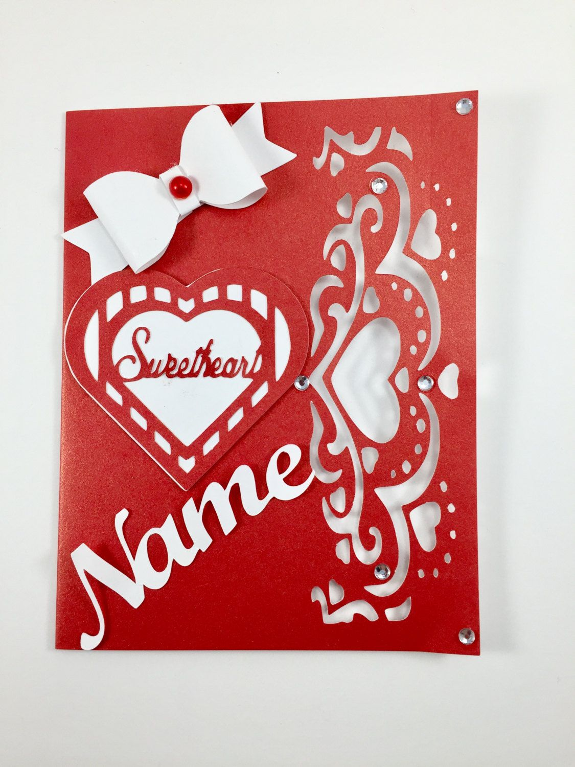Personalized Valentines Day Card Custom Valentines Card Valentines