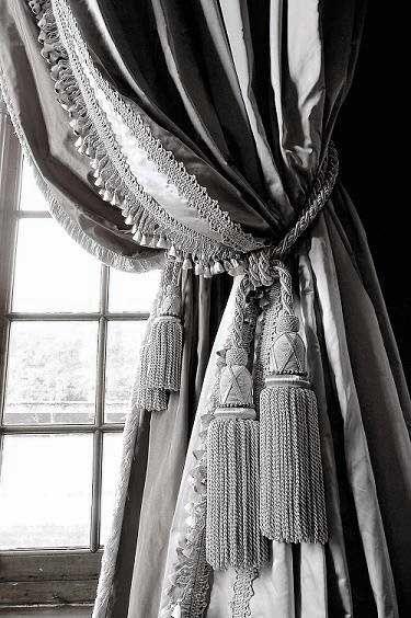 Dove Gray Home Decor Grey Tassel Drapes Curtains Drapes Curtains Window Treatments