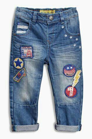 Beyond Kids Boys Casual Denim Pants Blue Washed Jeans