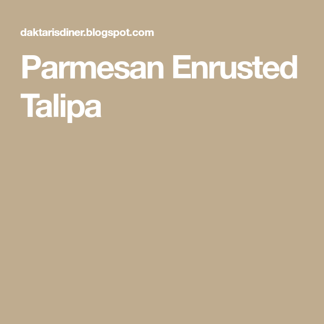 Photo of Parmesan Enrusted Talipa