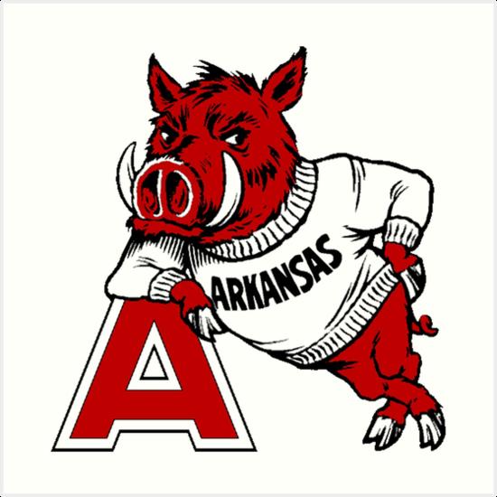 LunaPic Edit Cricut Board Arkansas razorbacks football