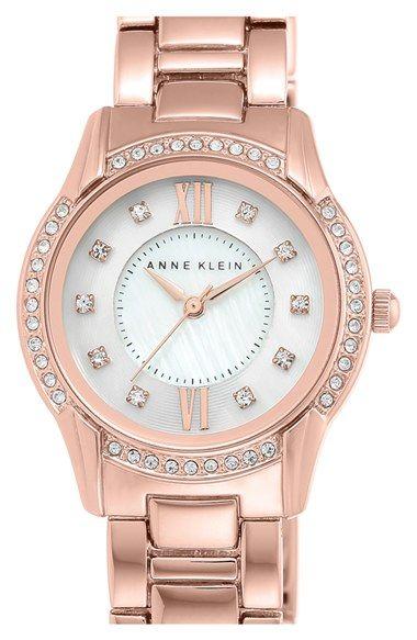Anne Klein Round Bracelet Watch, 28mm available at #Nordstrom